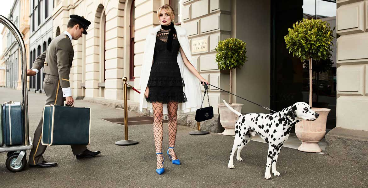 Modal Dalmatian fashion photo shoot 3